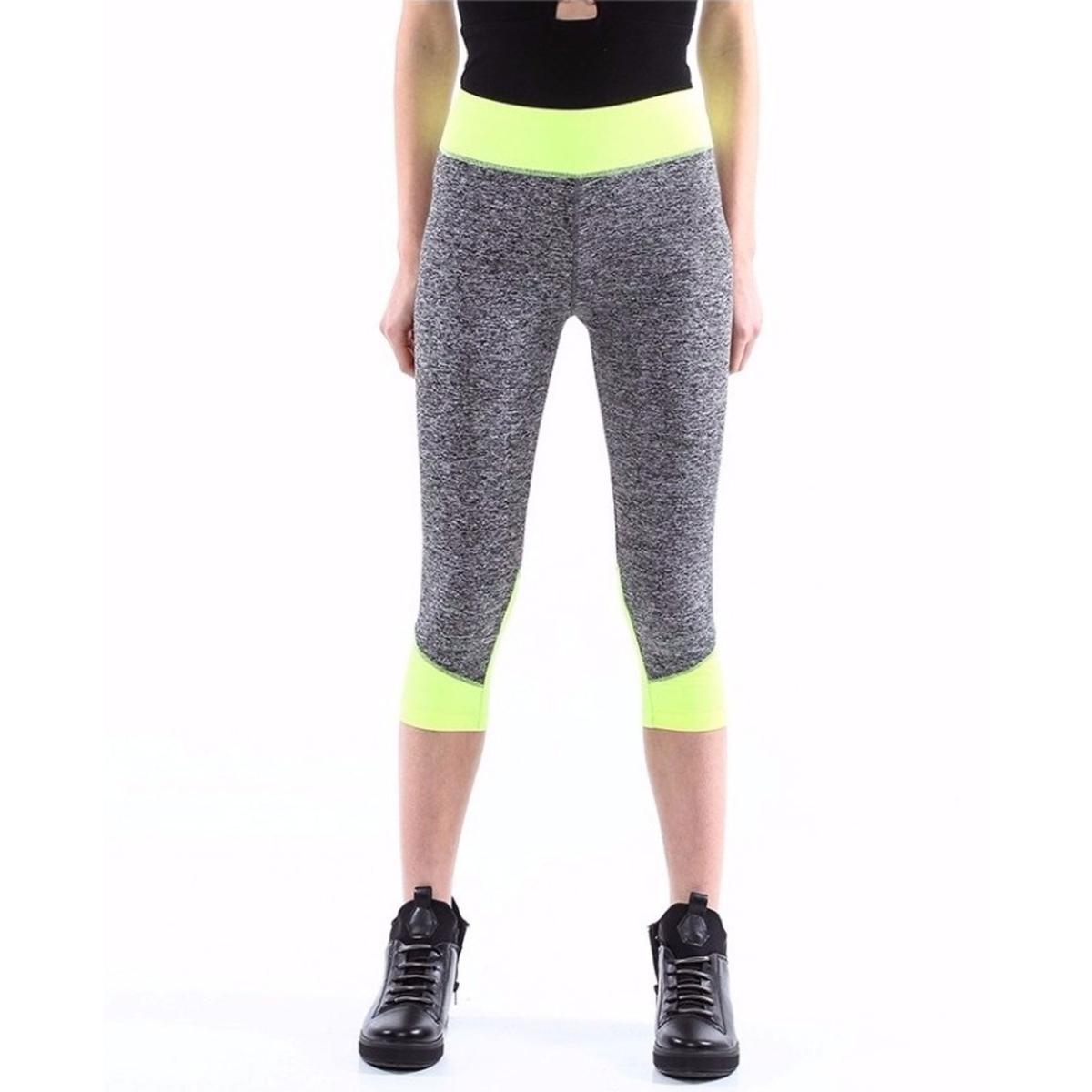 Pantaloni fitness leggings bicolore diverse combinazioni - donna