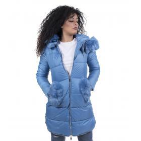 Piumino lungo donna con pelliccia
