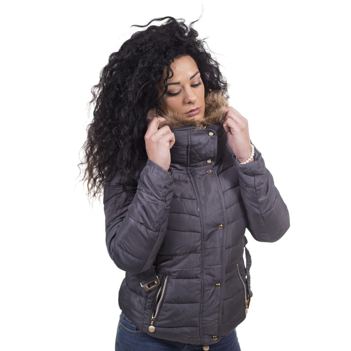 Giubbotto con pelliccia removibile e cappuccio estraibile - donna