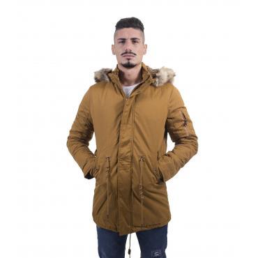 Giubbotto Parka con cappuccio e pelliccia removibile - uomo