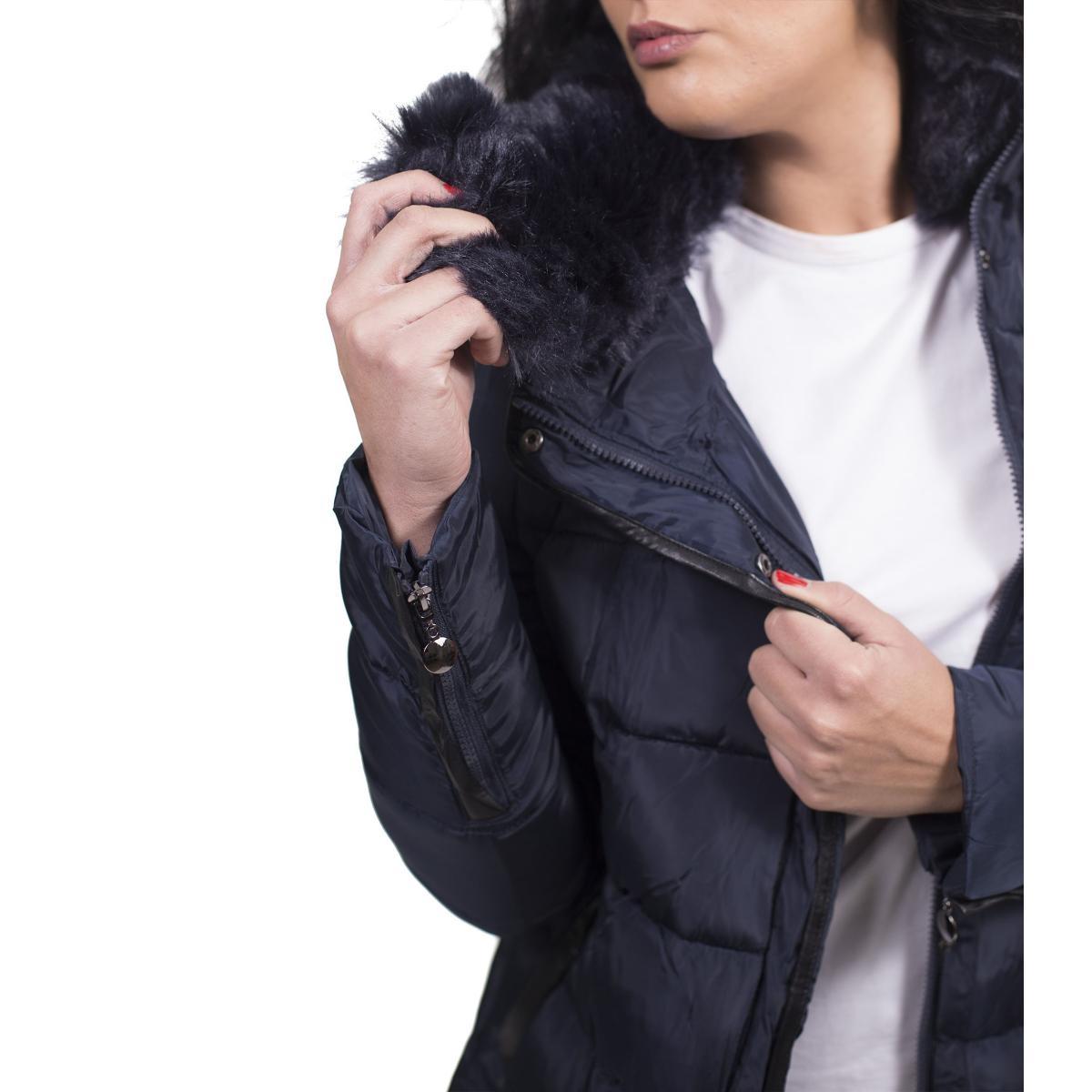 Giubbotto Piumino da donna con collo in pelliccia removibile