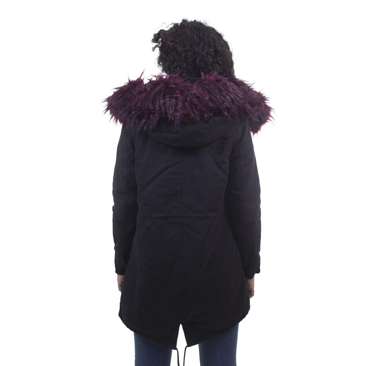 Giubbotto Parka da donna con cappuccio in pelliccia