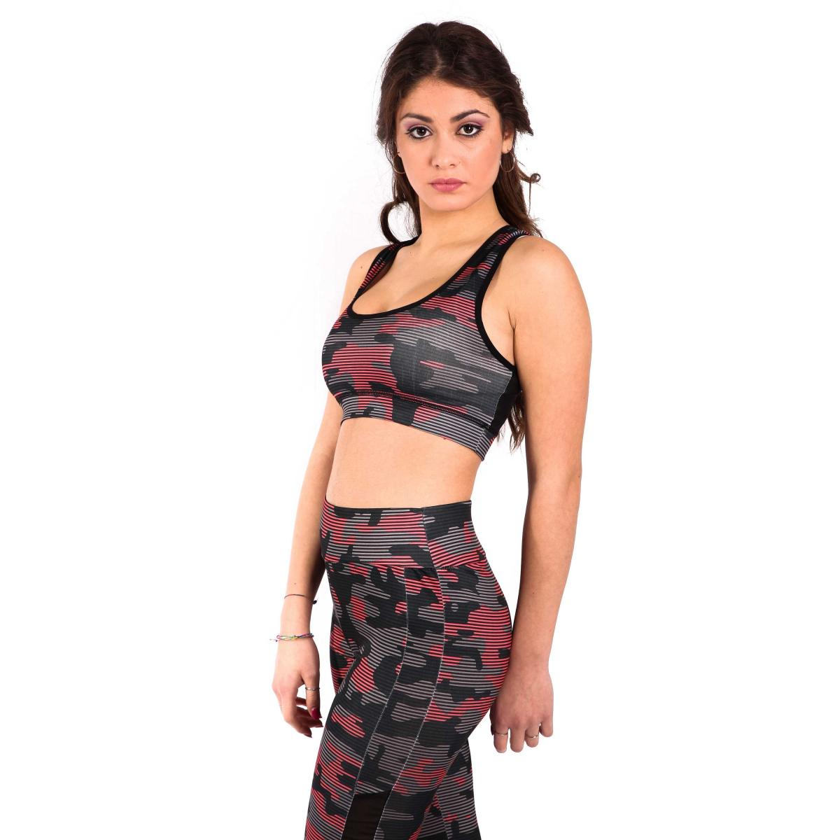Completo fitness camouflage - donna