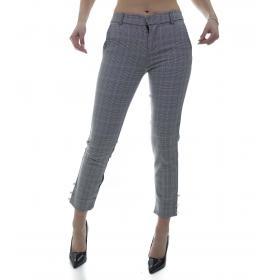 Pantaloni a quadri fantasia scozzese - donna