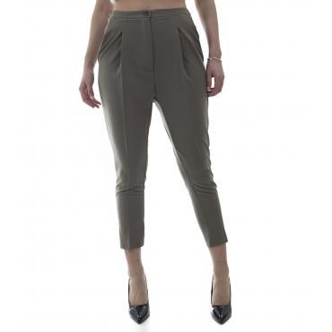 Pantaloni classici cavallo basso - donna