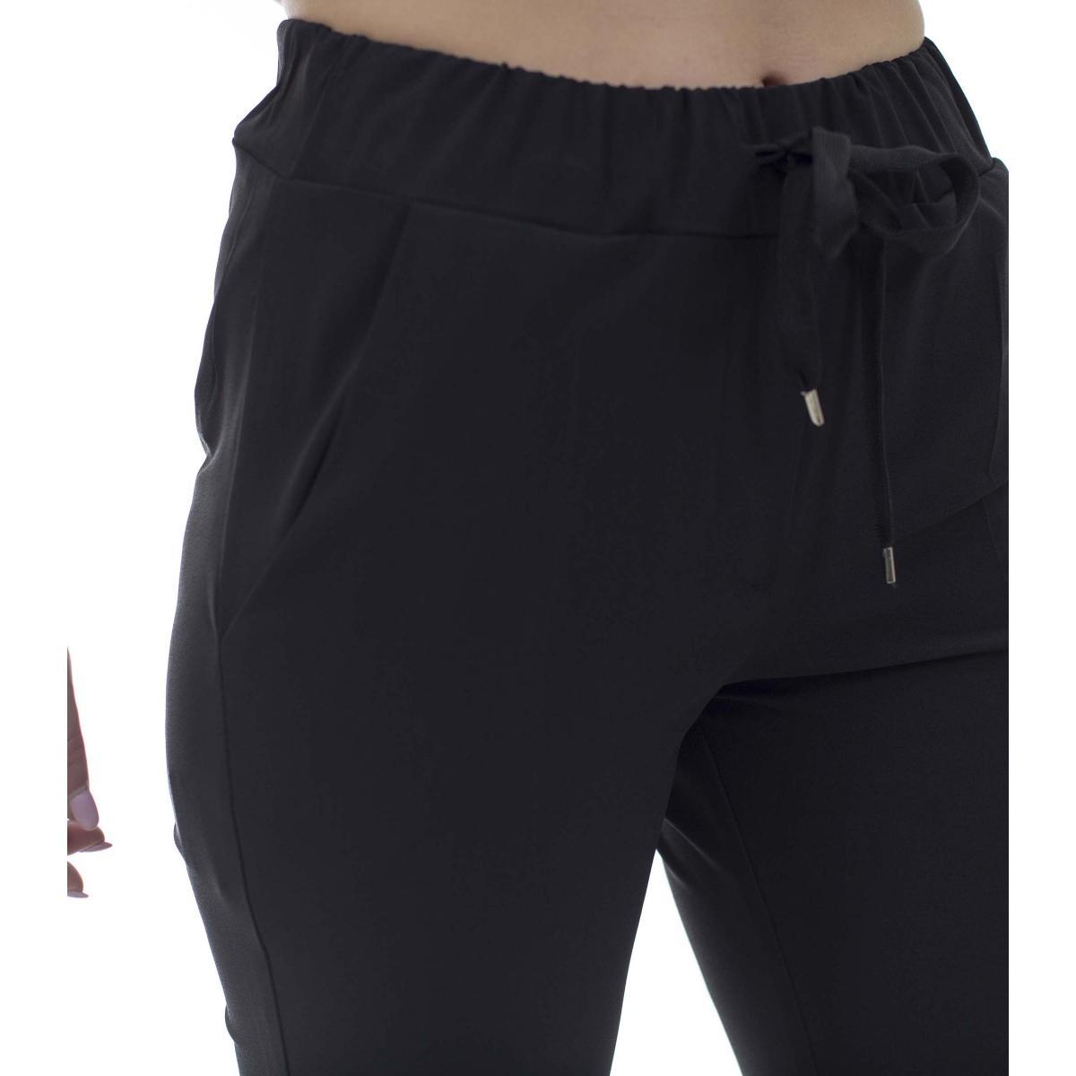 Pantalone con laccio in vita - donna