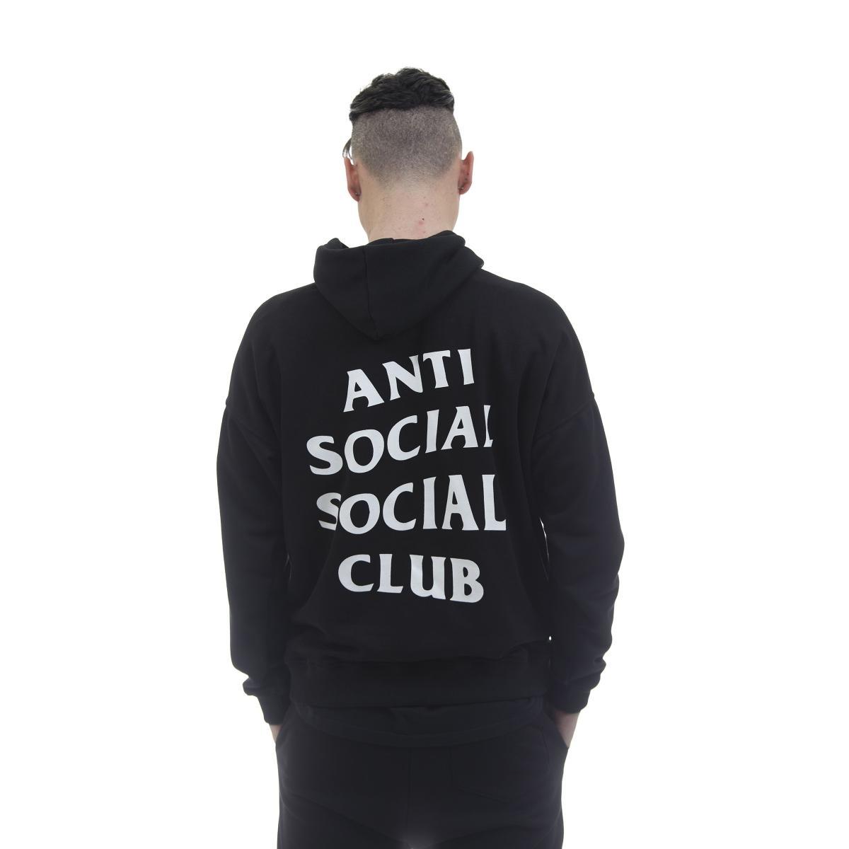 Felpa con cappuccio Anti Social Social Club Mind Games Hoodie Black - Uomo