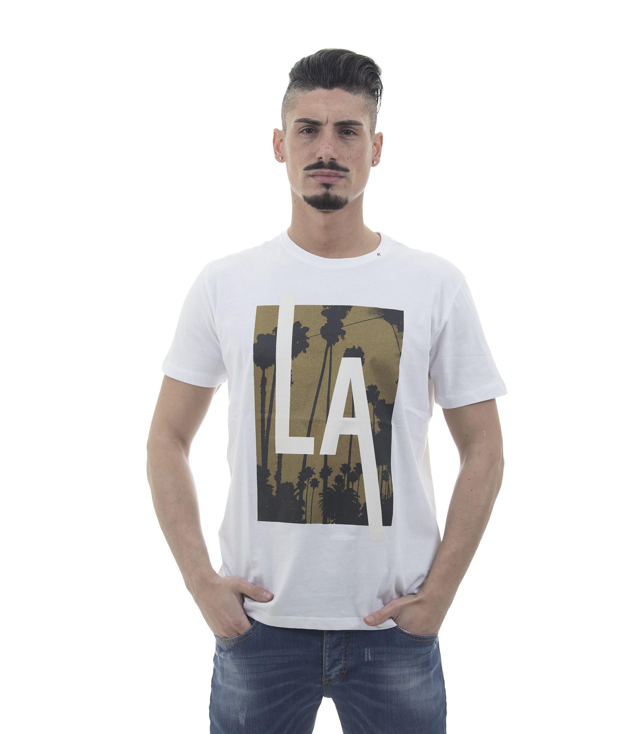 best service 77153 636da T-shirt Replay con stampa