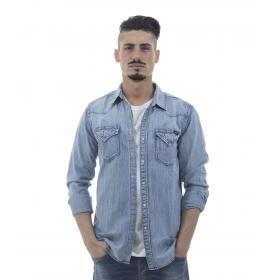 Camicia di jeans Replay in tessuto denim - uomo