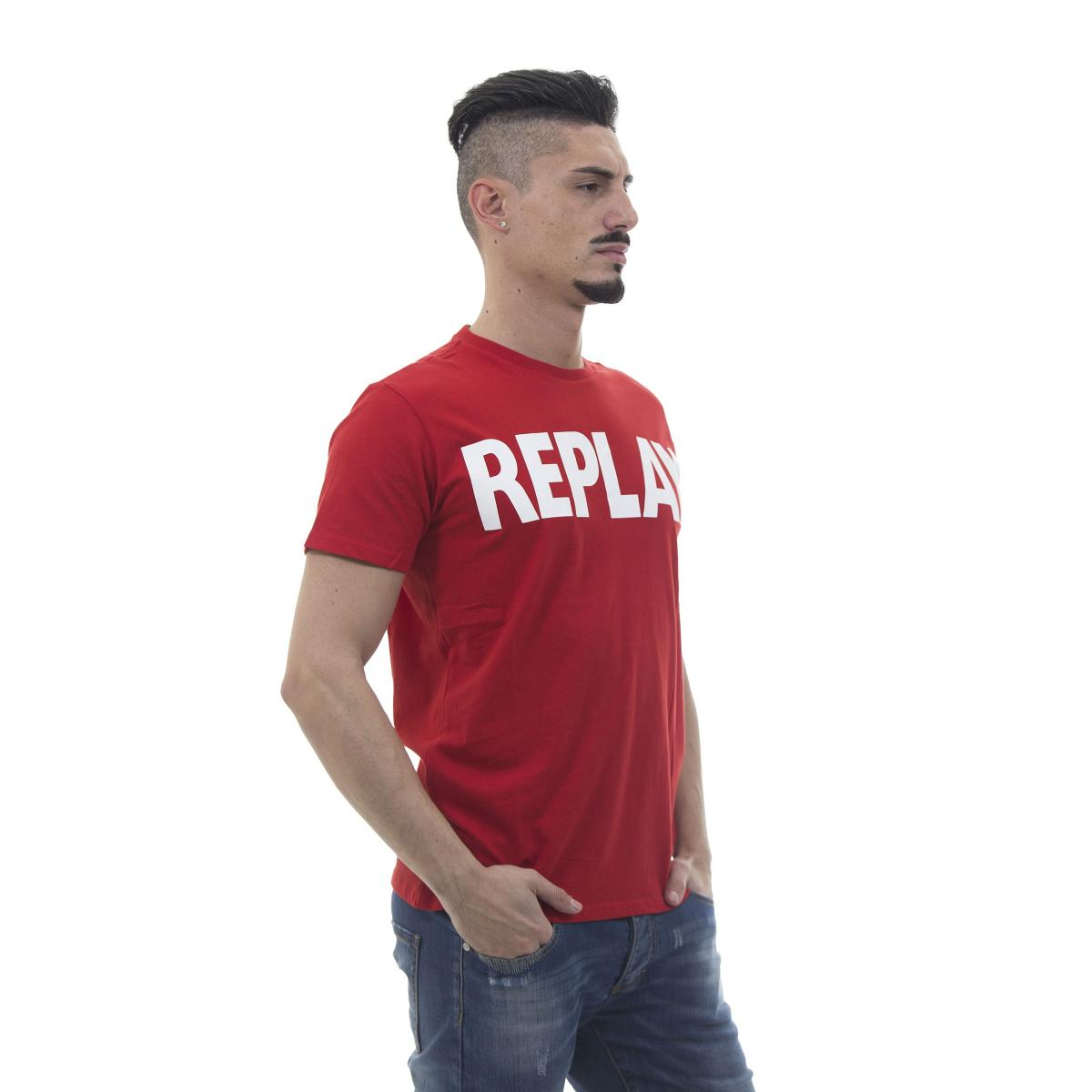 "T-shirt con stampa ""Replay"" - uomo"