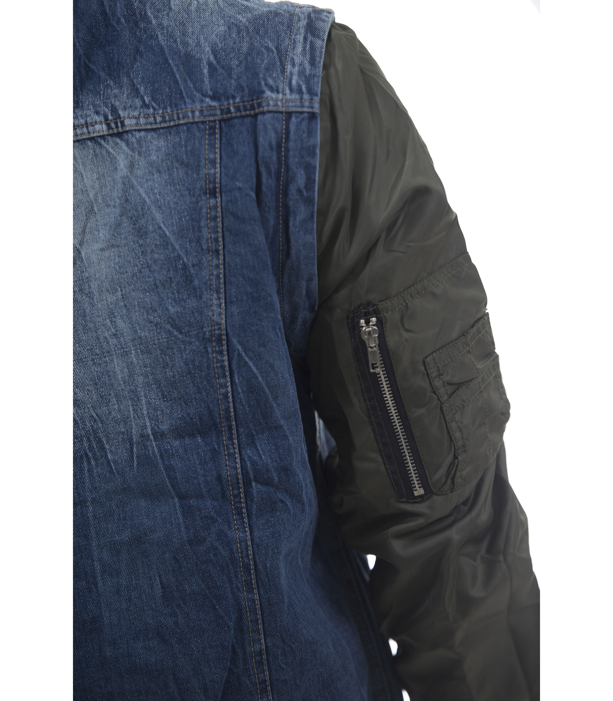 it Removibili Uomo Jeans Maniche Con Denim Montorostore Giubbotto gqw0I