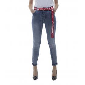 Jeans denim vita alta - donna