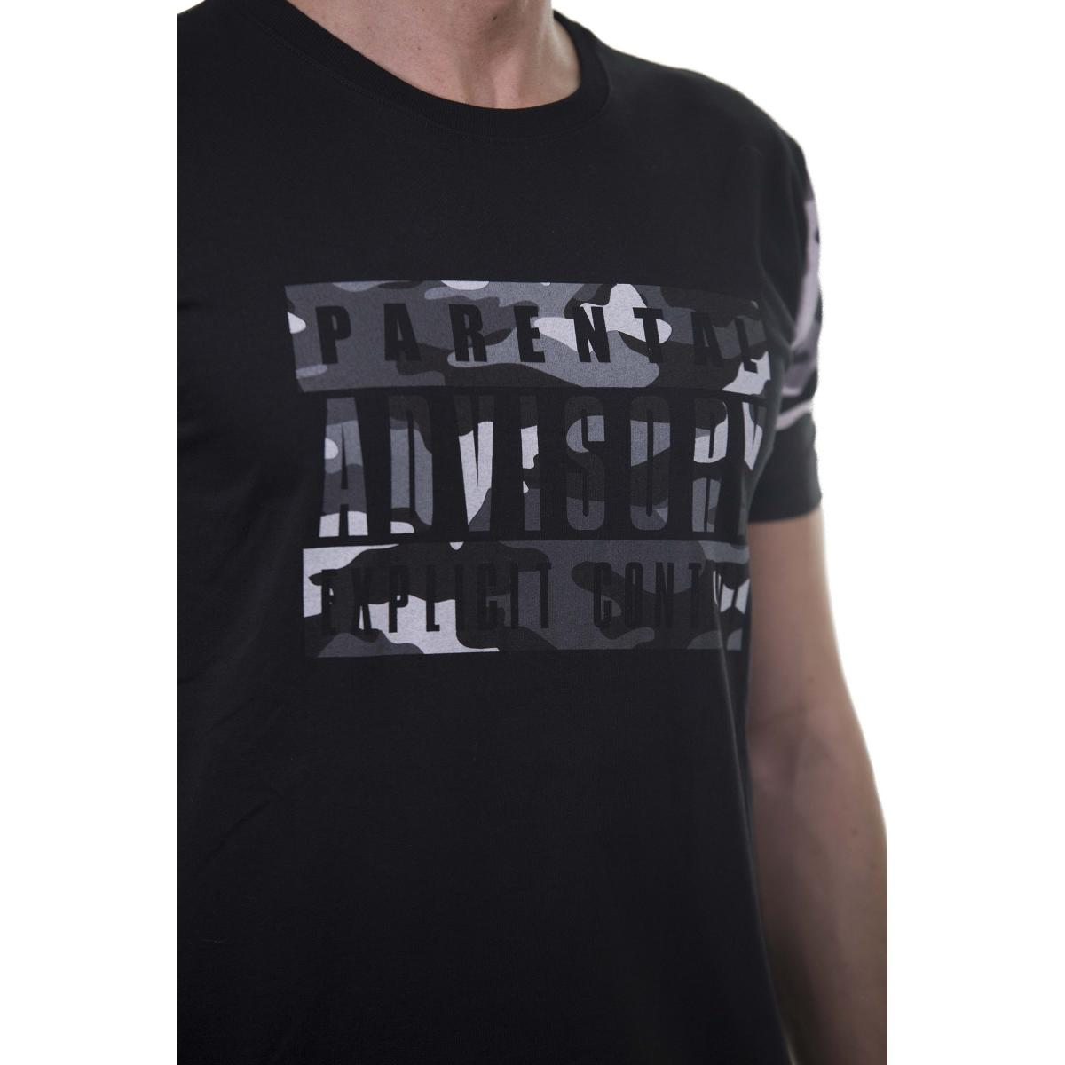 """T-shirt da uomo """"Parental Advisory Explicit Content"""" -rif.AD140U"""