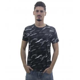 T-Shirt da uomo a maniche corte fantasia camouflage