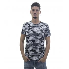 T-Shirt da uomo fantasia camouflage in tessuto sintetico