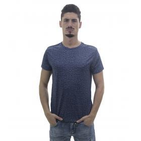 T-Shirt fantasia da uomo in tessuto sintetico