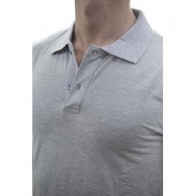 Polo basic da uomo tinta unita in cotone elasticizzato