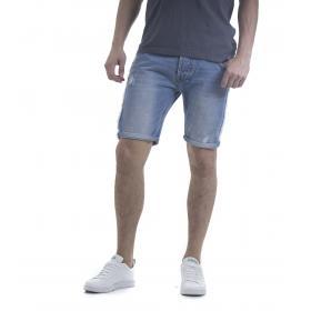 Pantaloncino bermuda uomo in jeans 5 tasche
