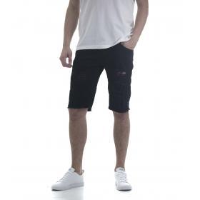 Pantaloncino bermuda da uomo 5 tasche con strappi