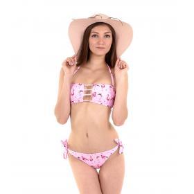 Costume mare da donna bikini a fascia 2 pezzi con stampe