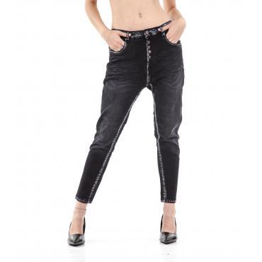 """Pantaloni Jeans """"RumJungle"""" cavallo basso cinque tasche da donna"""