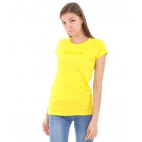 T-shirt Diadora da donna basica con stampa logo
