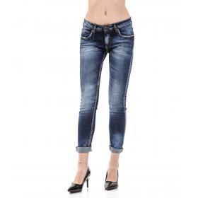 "Pantaloni Jeans ""RumJungle"" originale da donna cinque tasche"