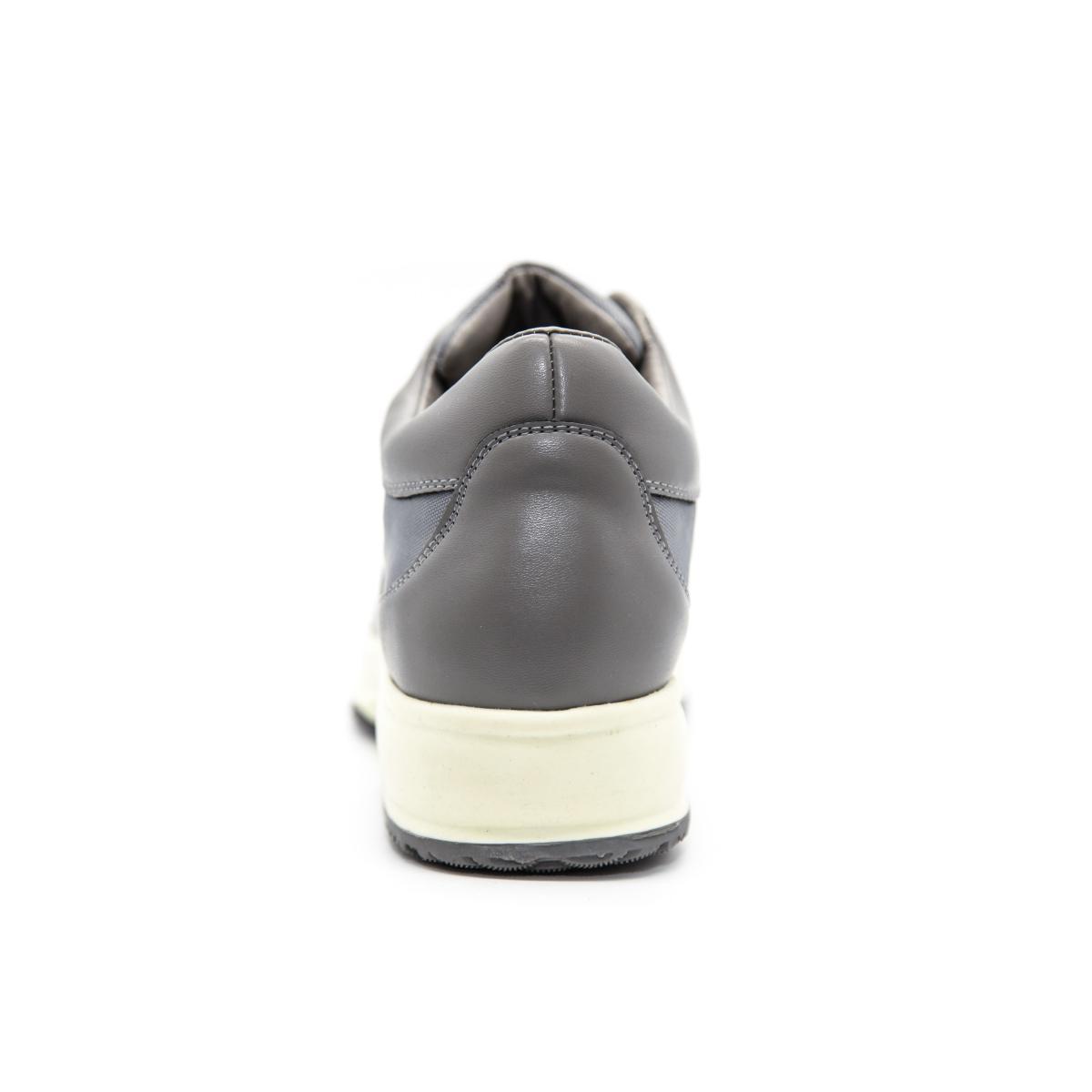 Scarpe Avirex Gunny 268 con fondo alto in pelle grigio unisex