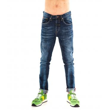 "Pantaloni Jeans da uomo ""RumJungle"" skinny fit cinque tasche"