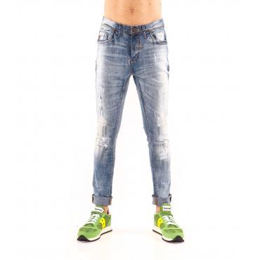 """Pantaloni Jeans """"RumJungle"""" da uomo cinque tasche effetto sfumato"""