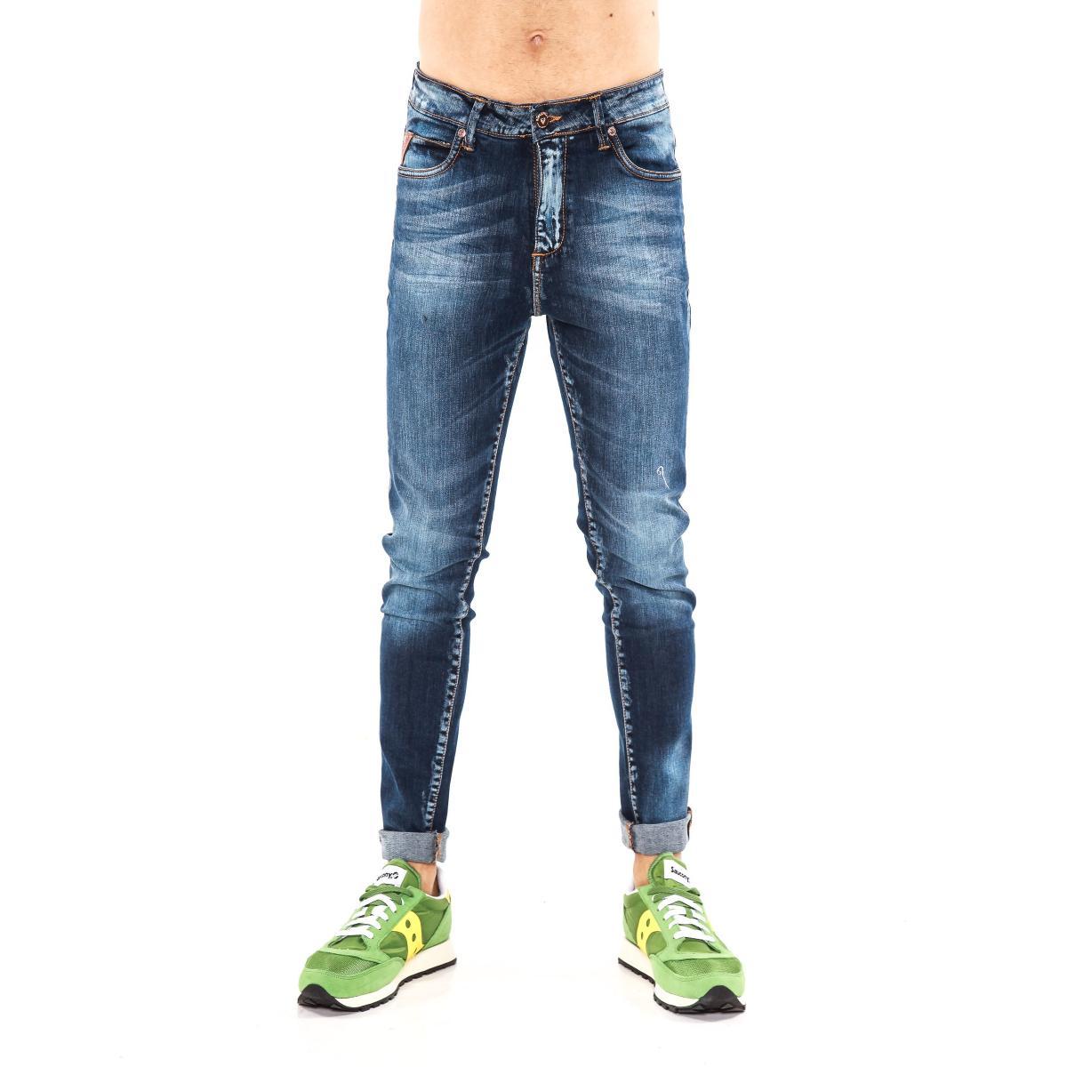 """Pantaloni Jeans """"RumJungle"""" da uomo cinque tasche"""