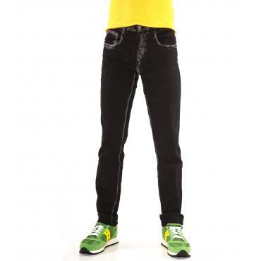 """Pantaloni Jeans """"RumJungle"""" da uomo cinque tasche in cotone elasticizzato"""