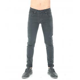 Pantaloni da uomo 5 tasche tinta unita in cotone elasticizzato