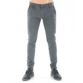 Pantaloni da uomo chinos fantasia tasche america in cotone elasticizzato
