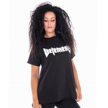 """T-shirt """"Vetements"""" girocollo da donna con stampa anteriore e posteriore Rif. V065"""