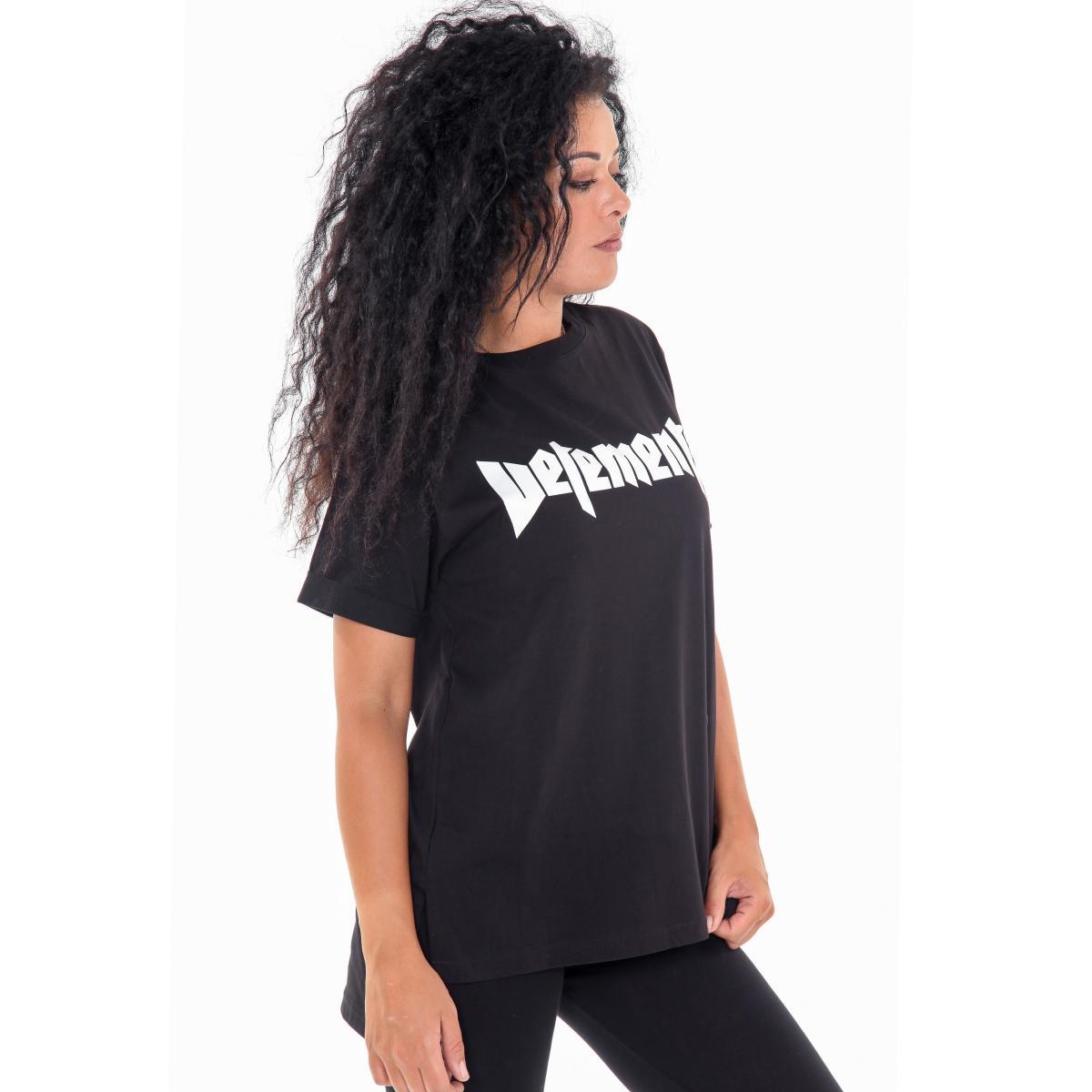 """T-shirt """"Vetements"""" girocollo da donna con stampa anteriore e posteriore Rif. V065 www.montorostore.it"""