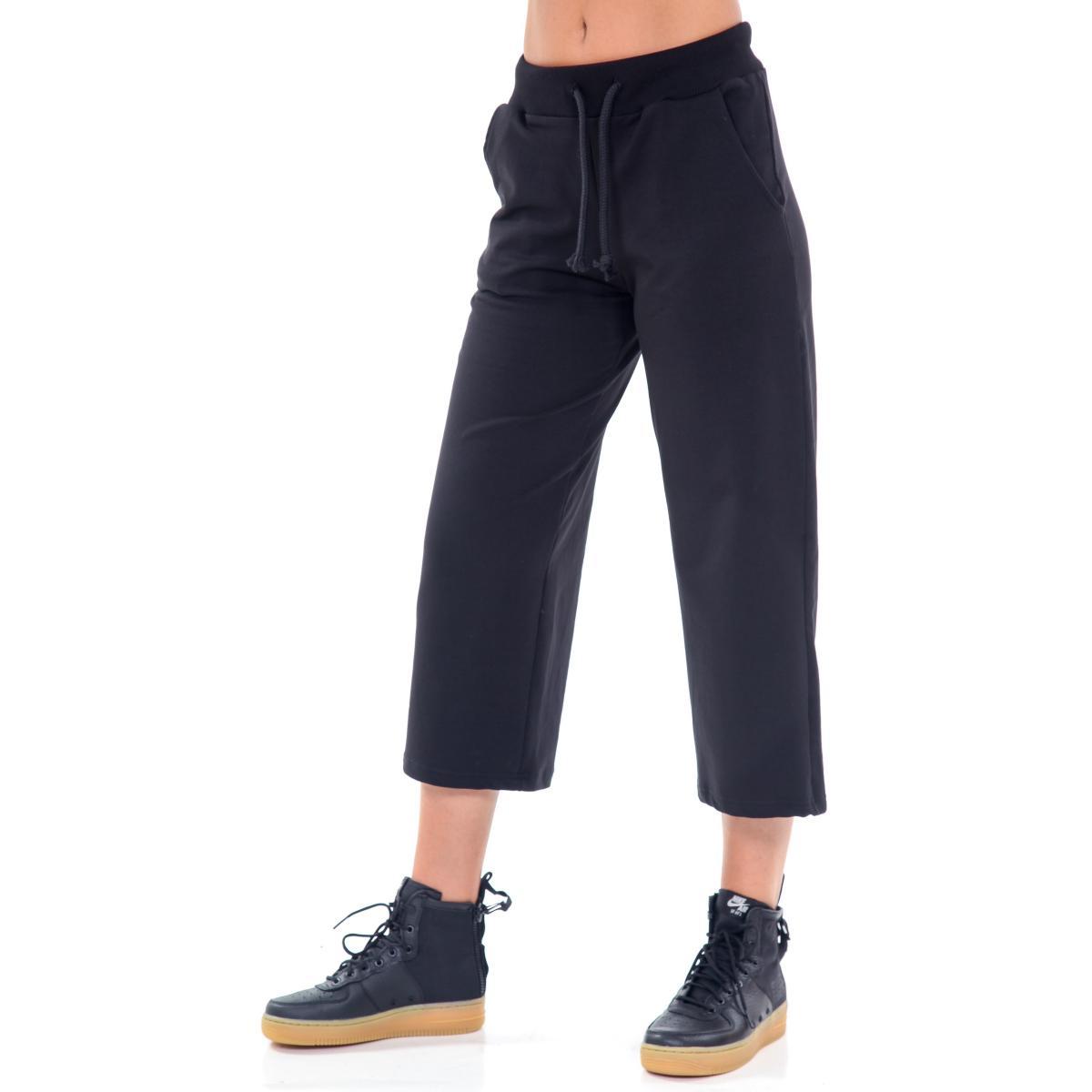 """Pantaloni tuta a 3/4 """"Vetements"""" con laccio in vita e tasca posteriore da donna Rif. V087 www.montorostore.it"""