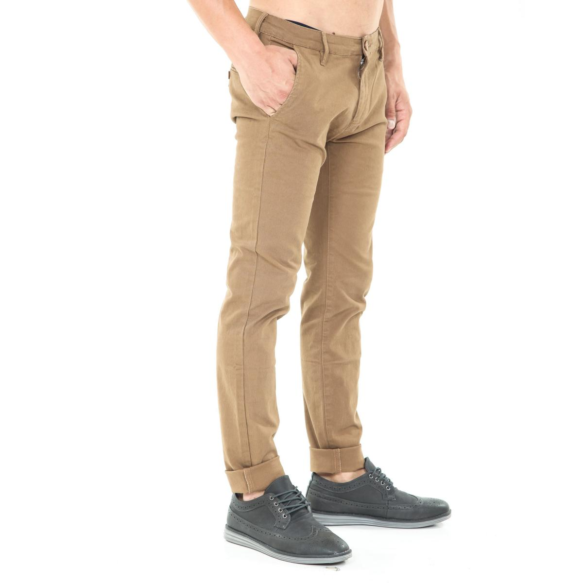 Pantaloni da uomo chinos tasche america in cotone elasticizzato
