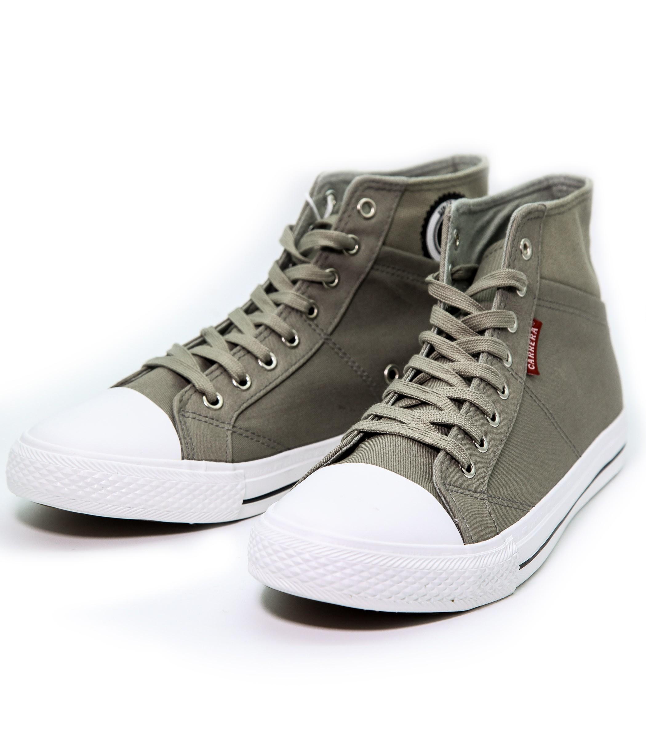 Scarpe Carrera Sneakers Tela In Da Uomo Ginnastica Grigia Alte TqT5r
