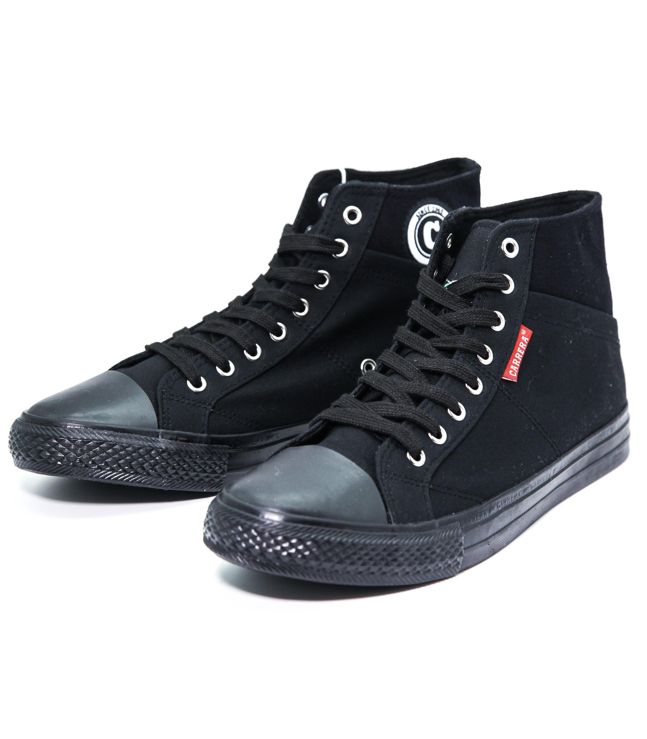 Alte In Da Sneakers Tela Scarpe Uomo Nera Carrera Ginnastica 354LjAR