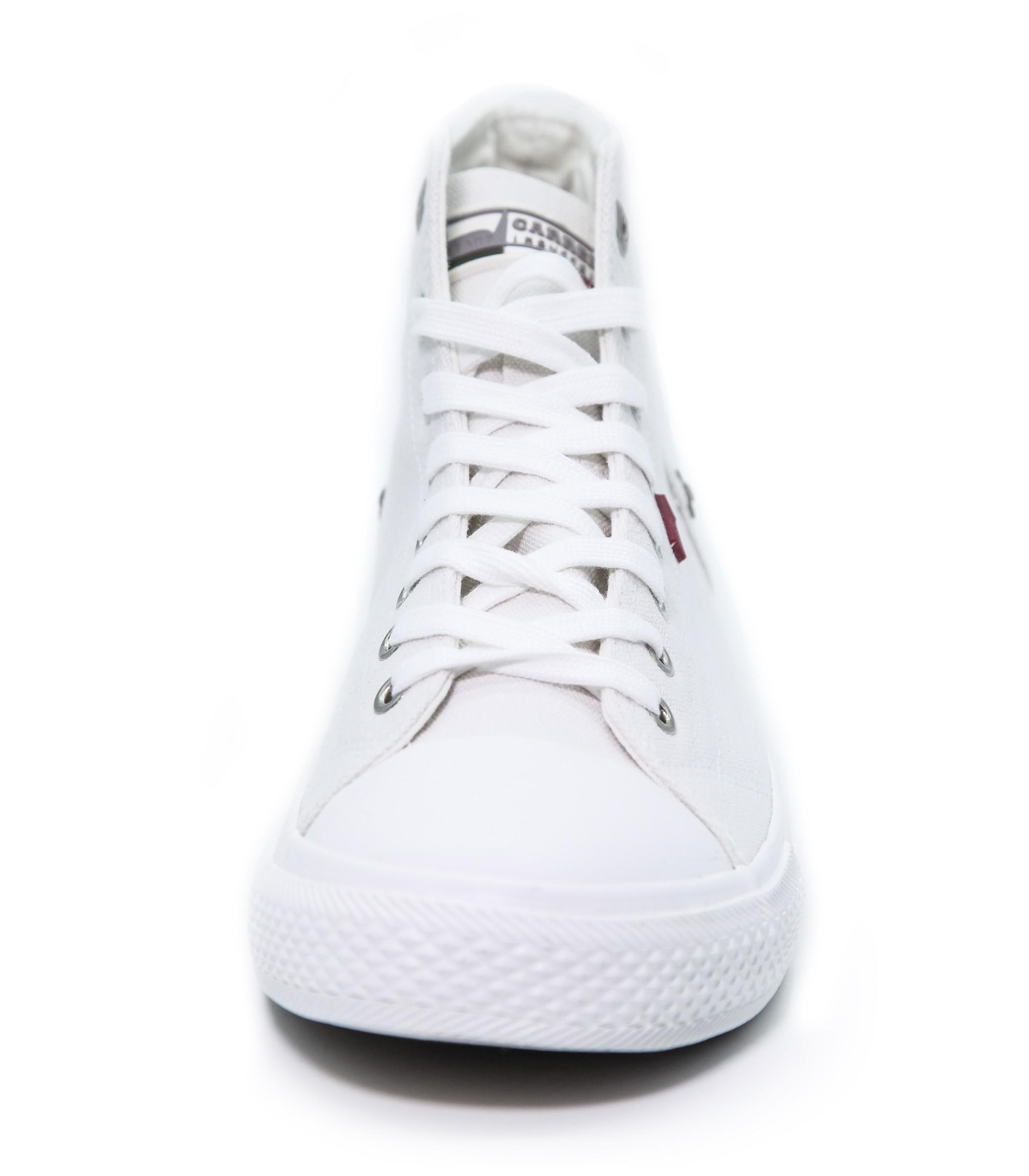 Scarpe In Bianca Uomo Alte Sneakers Tela Carrera Ginnastica Da Jc1lKF5uT3