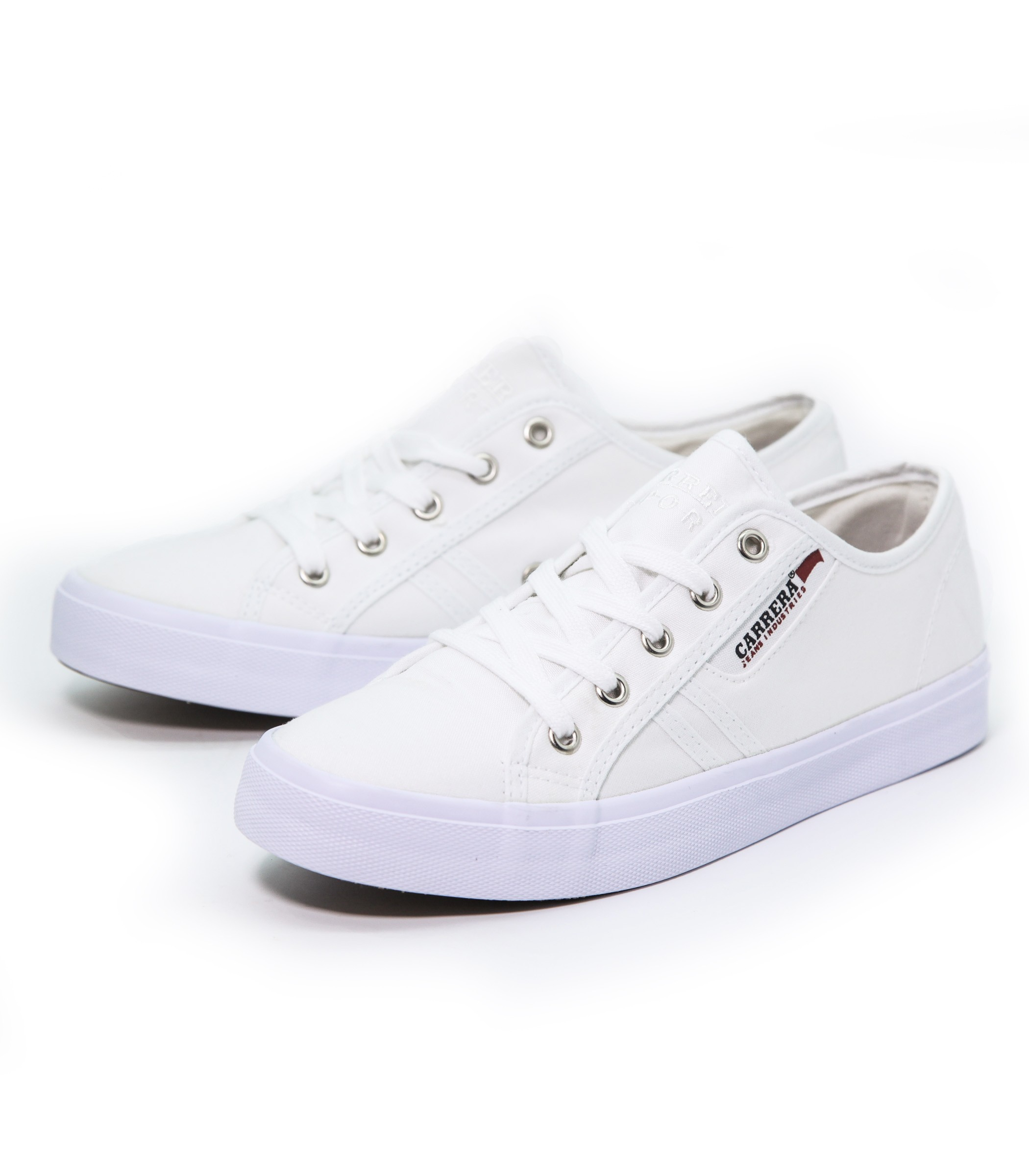 Scarpe Donna Da Ginnastica Carrera Basse Bianca Sneakers In Tela qxwRqPIY