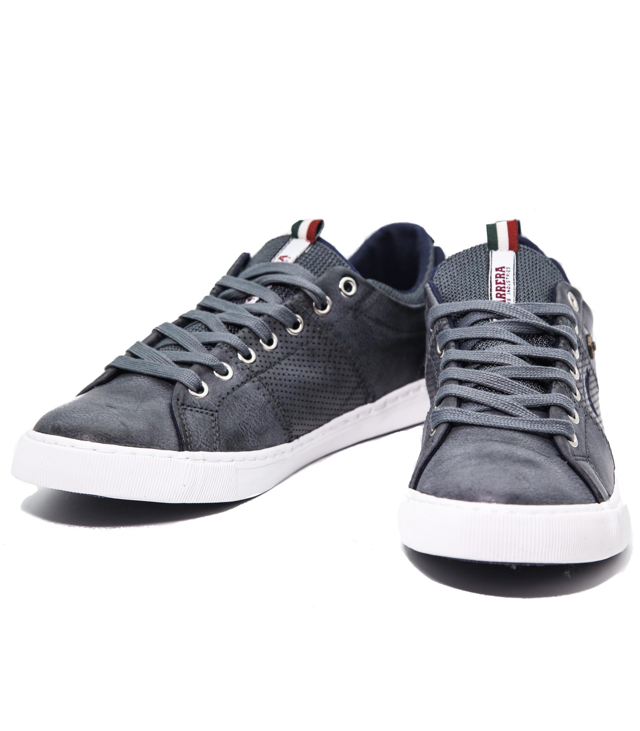 best service 1618b 615db Pelle Ginnastica Scarpe Sneakers Basse Grigia Uomo In Da Carrera OqZnpv0