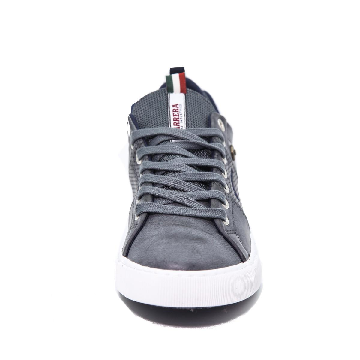 "Scarpe Sneakers ""Carrera"" Alte Da Ginnastica in Pelle Grigia da Uomo"