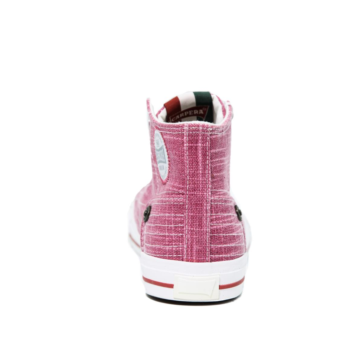 """Scarpe Sneakers """"Carrera"""" Alte Da Ginnastica in Tela Rosa da Donna"""