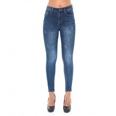Pantaloni Jeans da donna slim fit 5 tasche