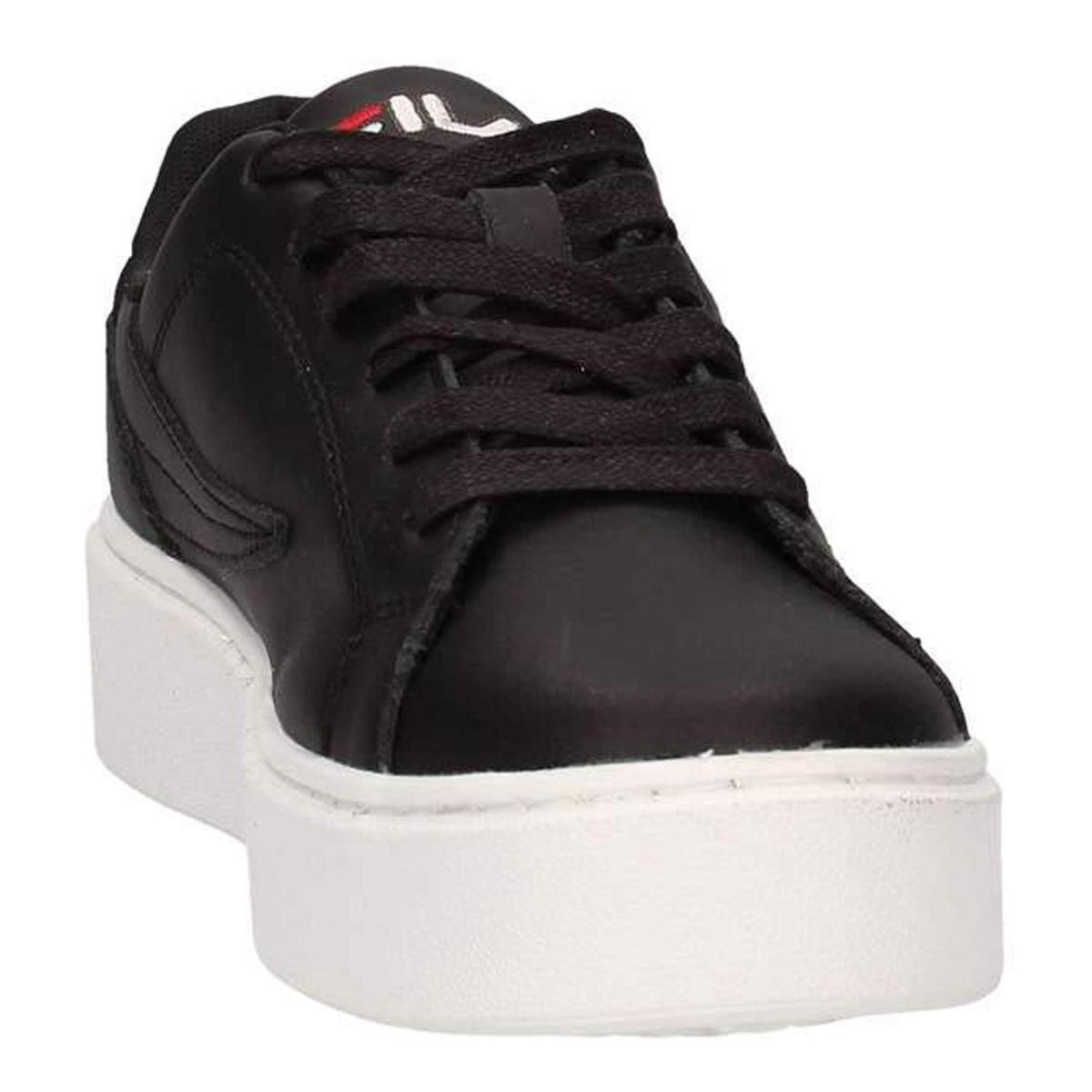 Scarpe Sneakers FILA Da Ginnastica in Pelle Nera Da Donna