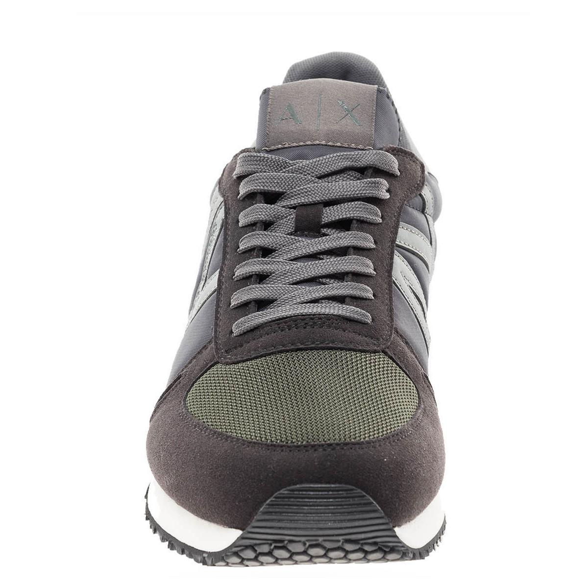 Scarpe da uomo Armani Exchange colore nero con inserti in camoscio Rif. XUX017 XV028