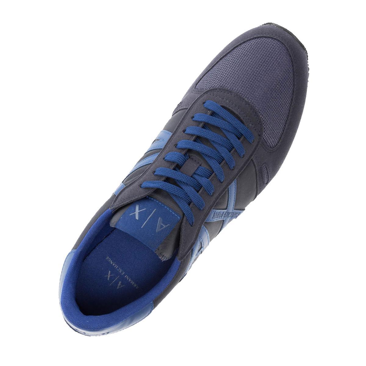 Scarpe da uomo Armani Exchange colore Blu con inserti in camoscio XUX017 XV028
