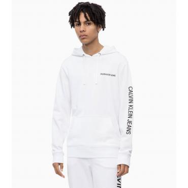 Felpa con cappuccio e logo Calvin Klein da uomo Rif. J30J309795